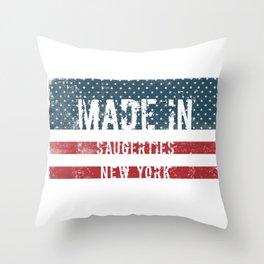 Made in Saugerties, New York Throw Pillow
