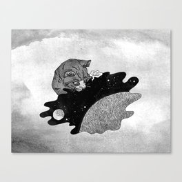 Space and the Cat Canvas Print