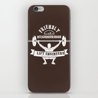 crossfit iPhone & iPod Skins featuring Friendly Neighbourhood Lift Engineers by Daniel Thompson