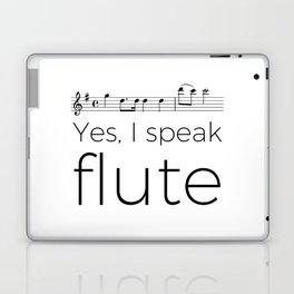 Do you speak flute? Laptop & iPad Skin