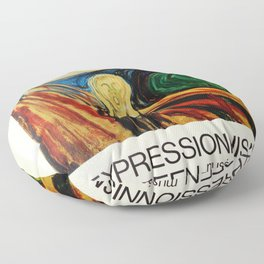 Expressionism Exhibition poster 1970 Floor Pillow