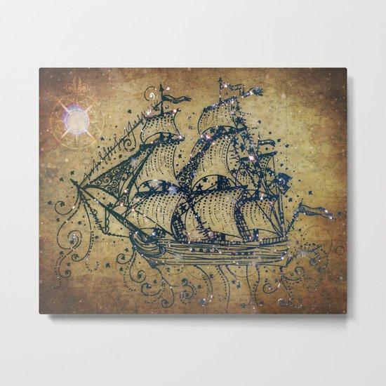 The Great Sky Ship Metal Print