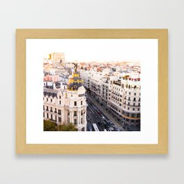 Madrid Gran Via Framed Art Print