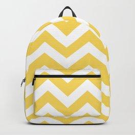 Stil de grain yellow - yellow color - Zigzag Chevron Pattern Backpack