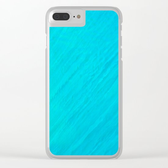 Turquoise Marble River Clear iPhone Case