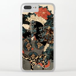 Garden of the Prosperous Blooms Triptych 3 Clear iPhone Case