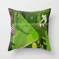 pool Throw Pillows featuring Pool by Robin Curtiss