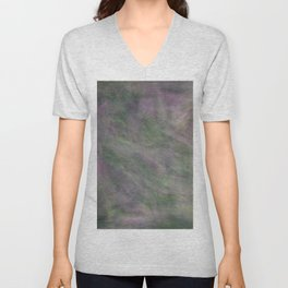 Rosen garden green purple look Unisex V-Neck