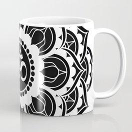 Black and White Mandala   Flower Mandhala Coffee Mug