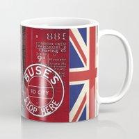 british flag Mugs featuring Very British by LebensART