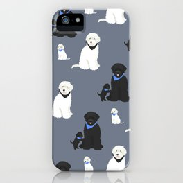 Labradoodle black and white iPhone Case