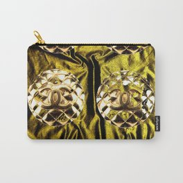 gold vintage earrings coco Carry-All Pouch