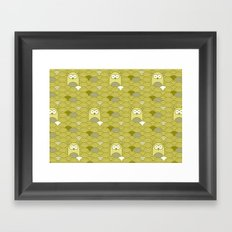 owl pattern Framed Art Print