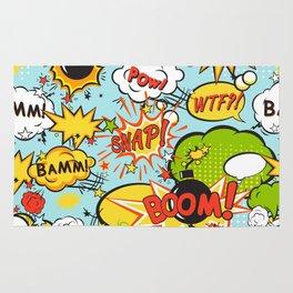 Comic boom seamless pattern Rug