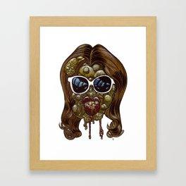Heads of the Living Dead Zombies: Botox Backfire Framed Art Print