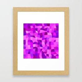 Pink purple tiles Framed Art Print