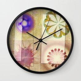 Gleeted Substance Flower  ID:16165-082307-33861 Wall Clock