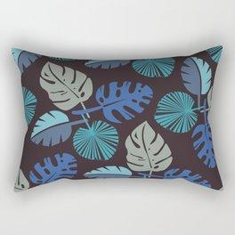 Blue Frond Rectangular Pillow