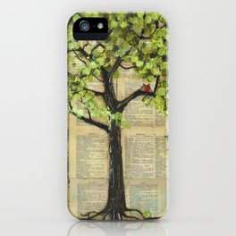 Two Red Cardinal Love Birds in a Tree iPhone Case