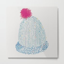 Knitted hats Metal Print
