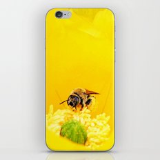 Cactus Flower, Bee and Grasshopper iPhone Skin