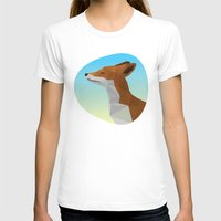 low poly T-shirts featuring Low-Poly fox by fortyfive