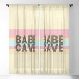 Babe Cave Creamy Spring Sheer Curtain