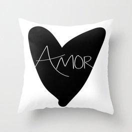 Mi Amor, Mi Corazon Throw Pillow