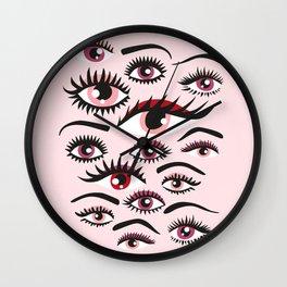 crazy lashes shiny eyes Wall Clock