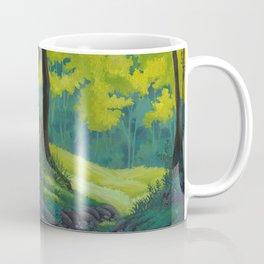 Magic forest glade art bright colors Coffee Mug
