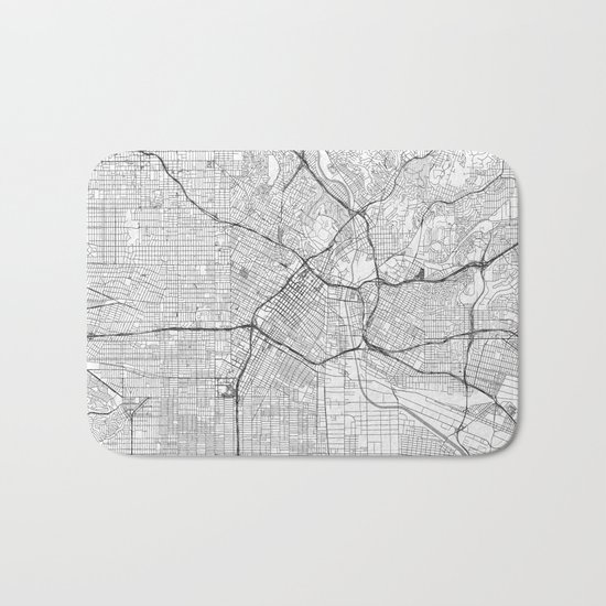 Los Angeles Map Line Bath Mat