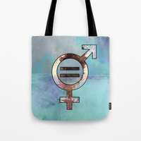 equality Tote Bags featuring equality by infloence