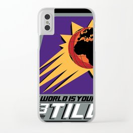 The World is Your's Clear iPhone Case