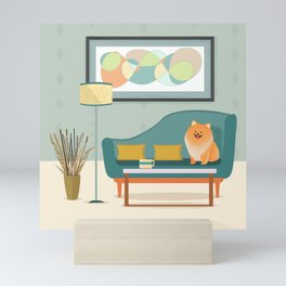 A Pomeranian Makes A House A Home Mini Art Print
