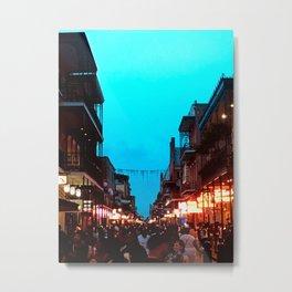 New Orleans Bourbon Street Dusk Metal Print