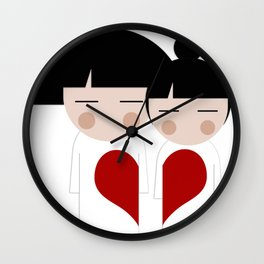 japan animation (in love) Wall Clock