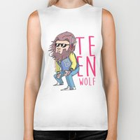 teen wolf Biker Tanks featuring Teen wolf by Jomp