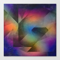 Canvas Prints featuring Cuts XX - Colour vs Form by Dirk Wuestenhagen Imagery