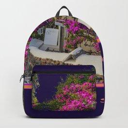 Santorini, Floral Street Backpack