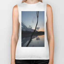 Sunset on lake, Nature Photography, Landscape Photos, sunset photos Biker Tank