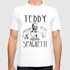 TEDDY SPAGHETTI Mens Fitted Tee MEDIUM White