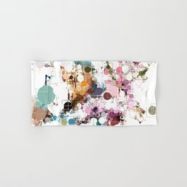 Decorative Subdued Pastel Pattern Abstract Hand & Bath Towel