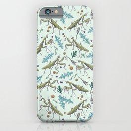 praying mantis in the garden iPhone Case