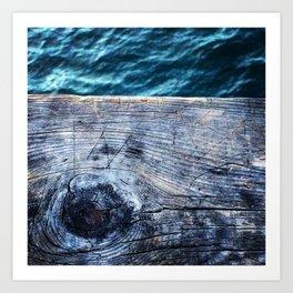 Wood and water Art Print