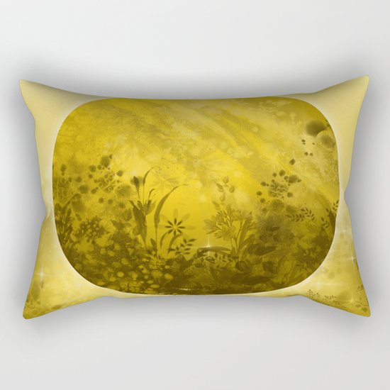 circle yellow landscape Rectangular Pillow