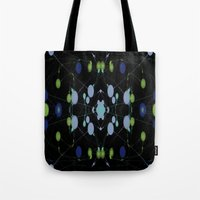 interstellar Tote Bags featuring Interstellar by writingoverashes