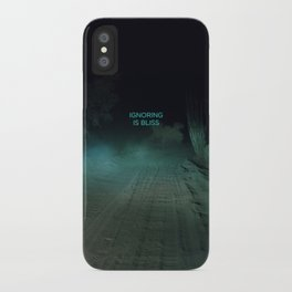 Ignoring is Bliss iPhone Case