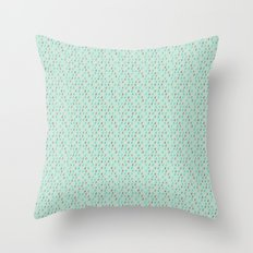 Raindrop Confetti Throw Pillow