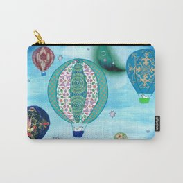 Blue Balloons Carry-All Pouch