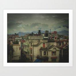 Kathmandu City Roof Tops - Architecture 03 Art Print